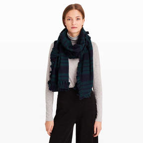Club Monaco Yasamin Plaid Ruffle Scarf
