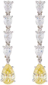 FANTASIA Tiered Pear-Cut CZ Dangle Earrings, Yellow