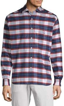 Psycho Bunny Men's Pima Cotton Flannel Sportshirt