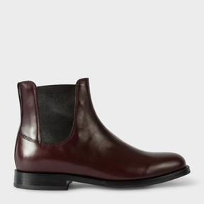 Paul Smith Women's Bordeaux Calf Leather 'Camaro' Chelsea Boots