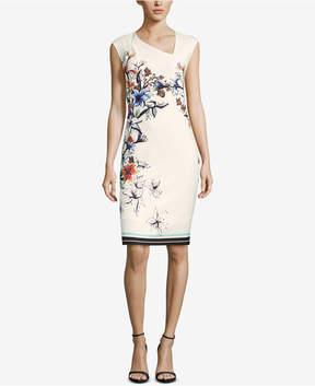 ECI Angled-Neck Sheath Dress