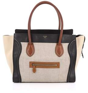 Celine Pre-owned: Tricolor Shoulder Luggage Bag Canvas And Leather.