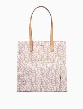 Calvin Klein nylon north/south tote bag