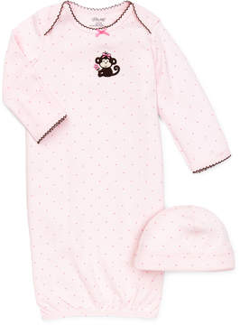 Little Me Baby Girls' 2-Piece Polka-Dot Cap & Gown Set