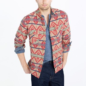 J.Crew Factory Red Brown Aztec