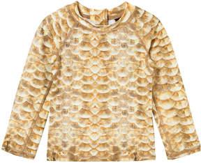 Molo Gold Nemo Fishscale Long Sleeve Rash Vest