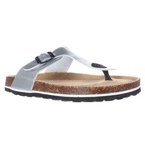 Jambu Laura Too Flat Comfort Thong Sandals, Silver.