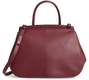 Steve Alan Kate Leather Flap Satchel - Red