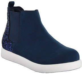 Mia Navy Glitter-Contrast Play Hi-Top Sneaker