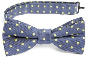 Nordstrom Boy's Dot Cotton & Silk Bow Tie