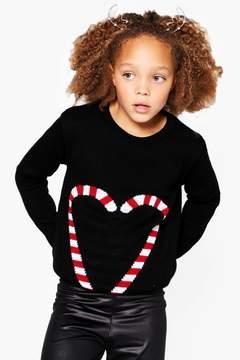 boohoo Girls Candy Heart Christmas Jumper