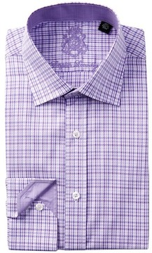 English Laundry Pinwheel Check Pattern Trim Fit Dress Shirt