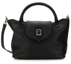 Halo Medium Leather Shoulder Bag