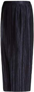 Tibi Plissé-pleated high-rise midi skirt