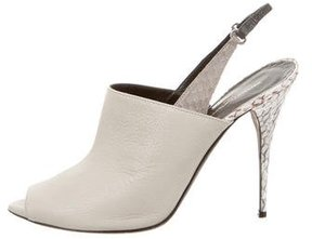Narciso Rodriguez Snakeskin-Trimmed Cindy Pumps