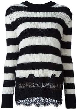 Ermanno Scervino cashmere lace appliqué sweater