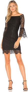 Bobi BLACK Paradise Lace Off the Shoulder Dress