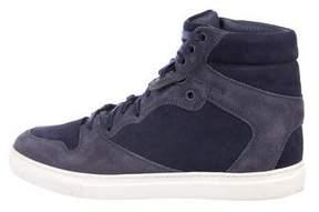 Balenciaga Suede Round-Toe High-Top Sneakers