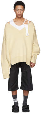 Raf Simons White Classic Oversized Sweater