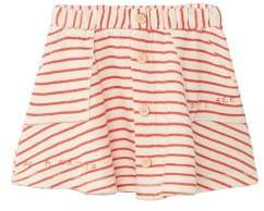 MANGO Cotton organic striped skirt