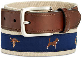 Club Room Men's Printed Web Belt, Created for Macy's