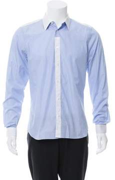 Calvin Klein Collection Woven Contrast Button-Up Shirt