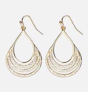 Avenue Encrusted Teardrop Earrings