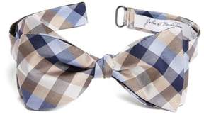 John W. Nordstrom Men's Check Silk Bow Tie