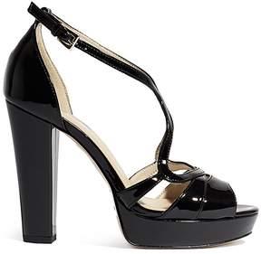 Karen Millen Women's Patent Leather Cross Platform Sandals