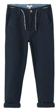 MANGO Cotton pleated trousers