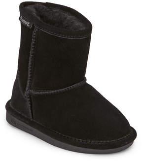 BearPaw Toddler Girls) Black Eva Short Lined Boots