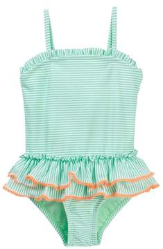 Hula Star Sailor Stripe One-Piece Swimsuit (Toddler & Little Girls)