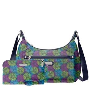 Baggallini Out And About Floral Zip Bagg with RFID Wristlet