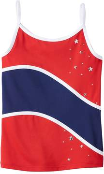 Jacques Moret Girls 4-14 Gym Champ Stars Camisole Tank Top