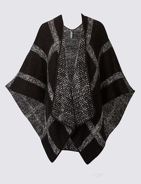 Marks and Spencer Knitted Check Wrap