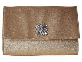 Jessica McClintock Nora Shimmer Large Envelope Clutch Clutch Handbags