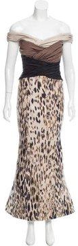 Carolina Herrera Brocade Evening Dress