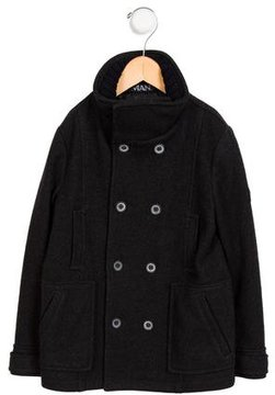 Armani Junior Girls' Virgin Wool Double-Breasted Coat