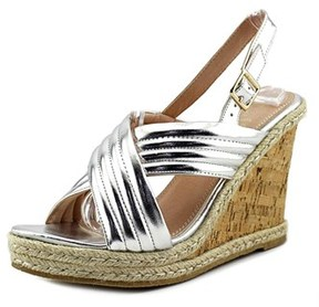 Callisto Puff Women Us 8 Silver Wedge Sandal.