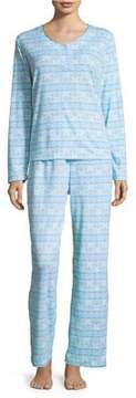 Karen Neuburger Three-Piece Pajama & Booties Set