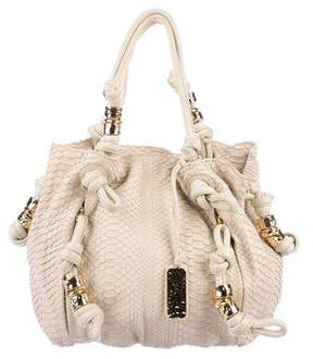 Michael Kors Leather-Trimmed Python Tote - NEUTRALS - STYLE