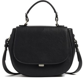 Chelsea28 Kyle Faux Leather Saddle Bag - Black