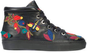 Laurence Dacade embroidered hi-top sneakers