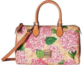 Dooney & Bourke Hydrangea Basket Weave Classic Satchel Satchel Handbags - PINK/BTRSCTCH TRIM - STYLE
