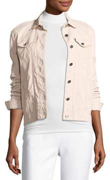 ATM Anthony Thomas Melillo Leather Button-Front Jacket, Blush