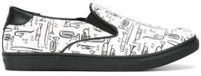 Dolce & Gabbana musical print slip-on sneakers