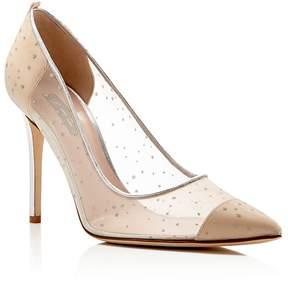 Sarah Jessica Parker Glass Glitter Dot Pointed Toe High Heel Pumps