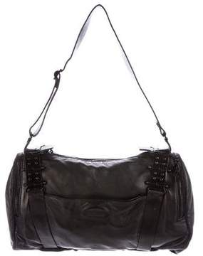 Rochas Grained Leather Shoulder Bag