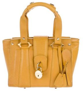Burberry Leather Handle Bag - YELLOW - STYLE