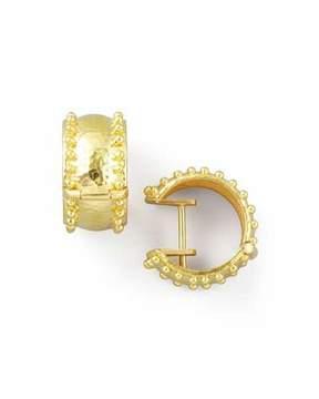 Elizabeth Locke 19k Gold Granulated Hoop Earrings